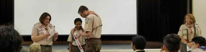 Mrs. Subramaniam awarded Woodbadge – Adults Encouraged to Follow!